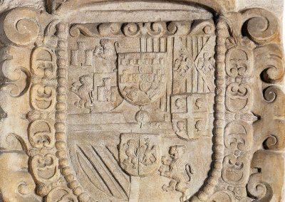 Herb Filipa II Hiszpańskiego - XVI w., Sassari (Sardynia), Palazzo Ducale