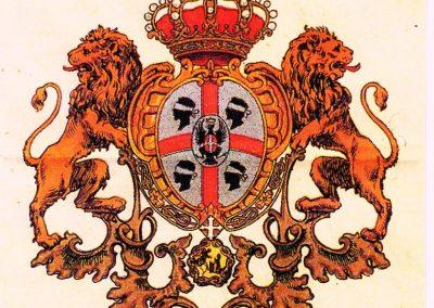 XX-wieczny herb przyjęty przez Brygatę Sassari sardyńską brygadę żołnierzy podczas I Wojny Światowej